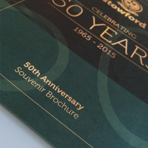 50th Anniversary Brochure Design - Stowford