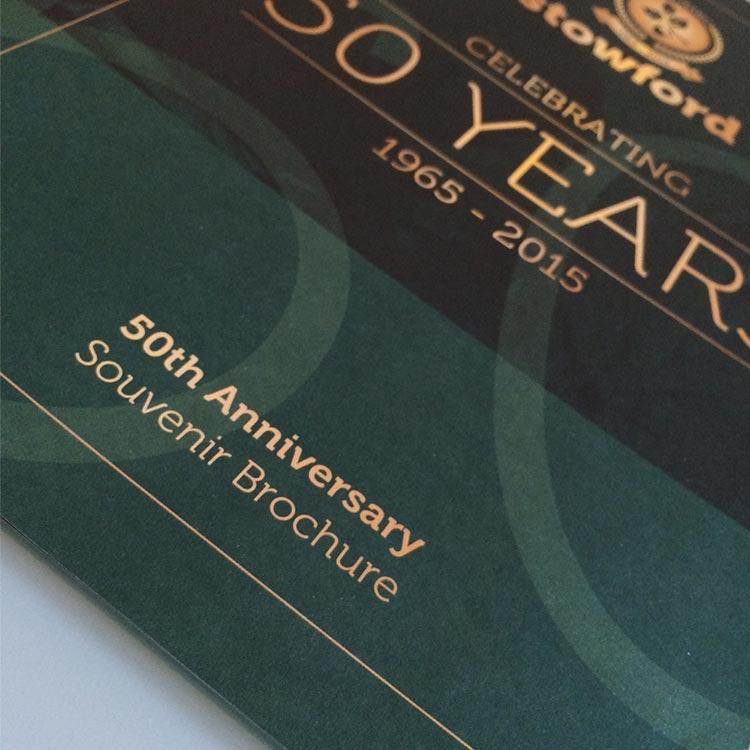 50th Anniversary Brochure Design - Stowford