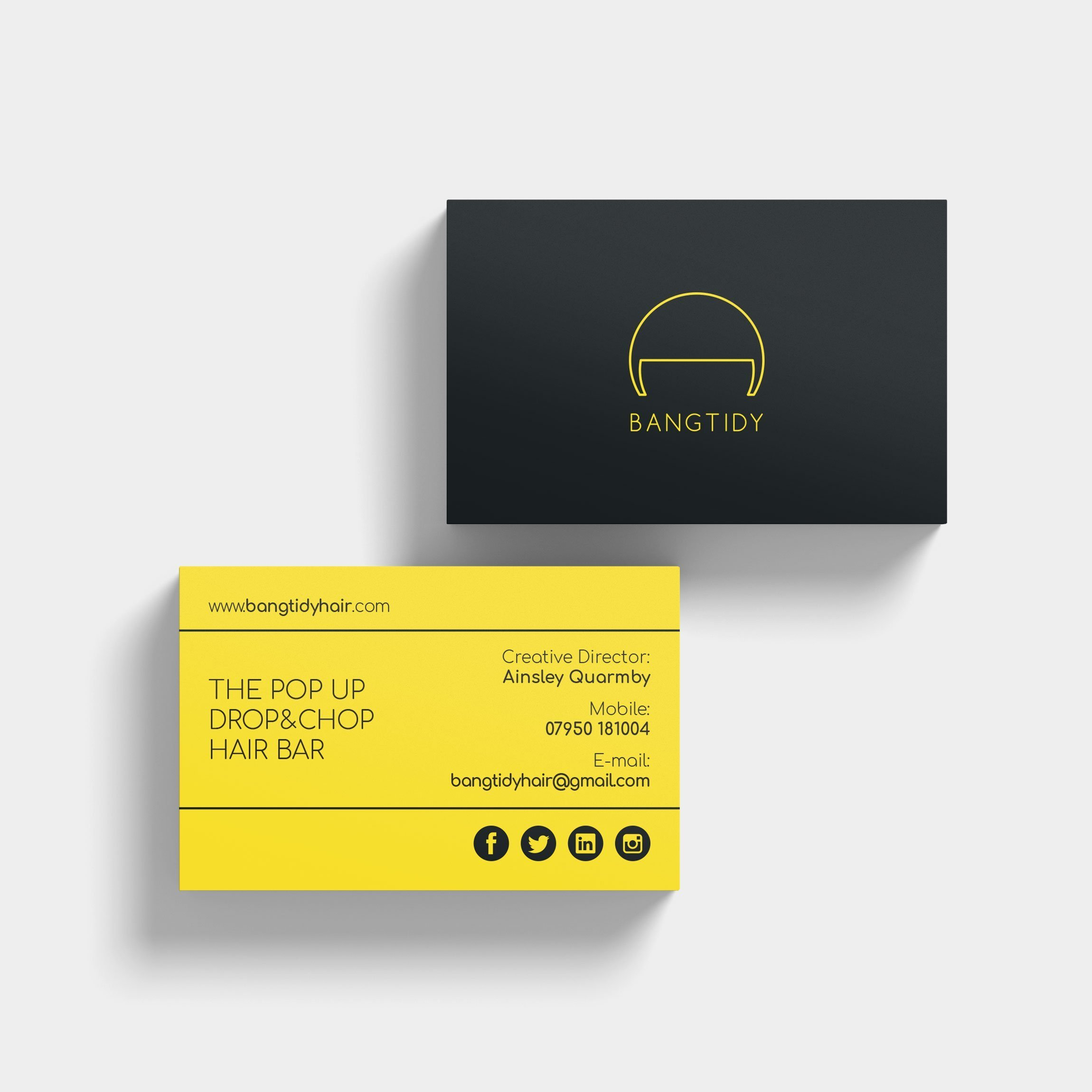 Business Card Design – BangTidy Hair Stylist | Wes Butler Graphic Design
