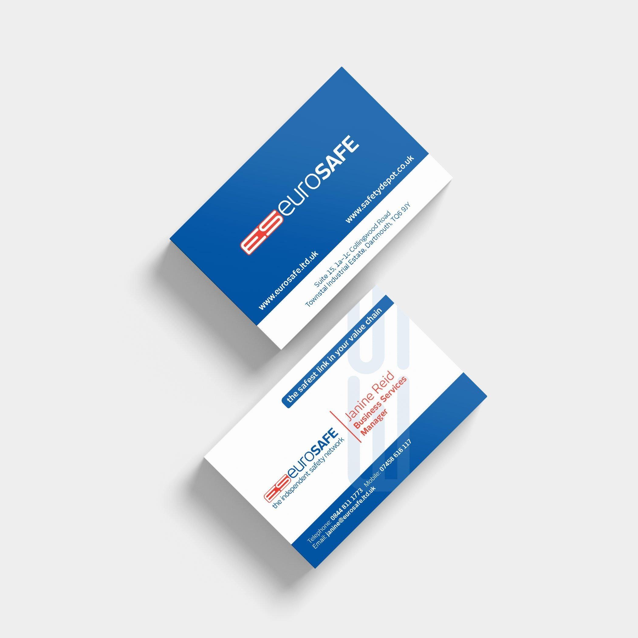 Business Card Design – Eurosafe | Wes Butler Graphic Design