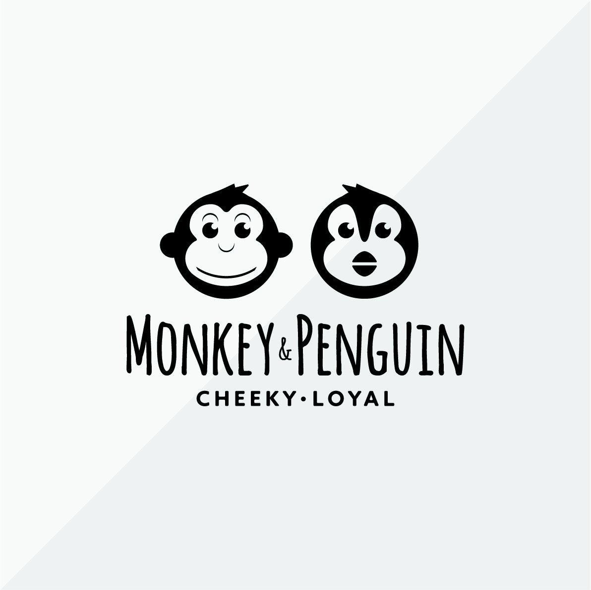 Monkey and Penguin Logo