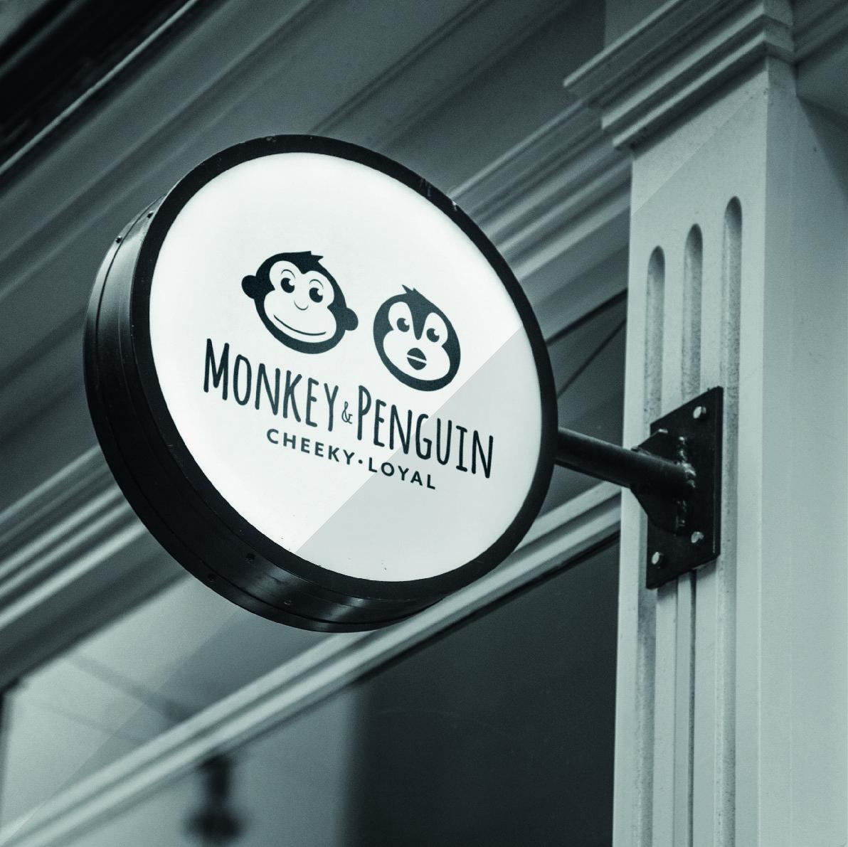 Monkey and Penguin Signage
