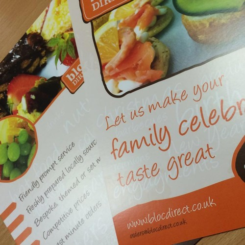 A5 Leaflet Design for Food Catering Company | Wes Butler Graphic Design