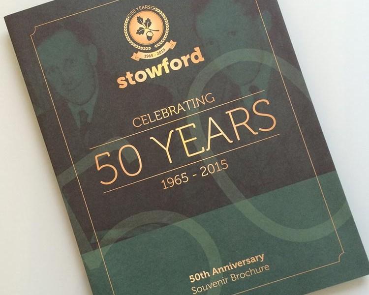 Anniversary Souvenir Brochure Design - Stowford