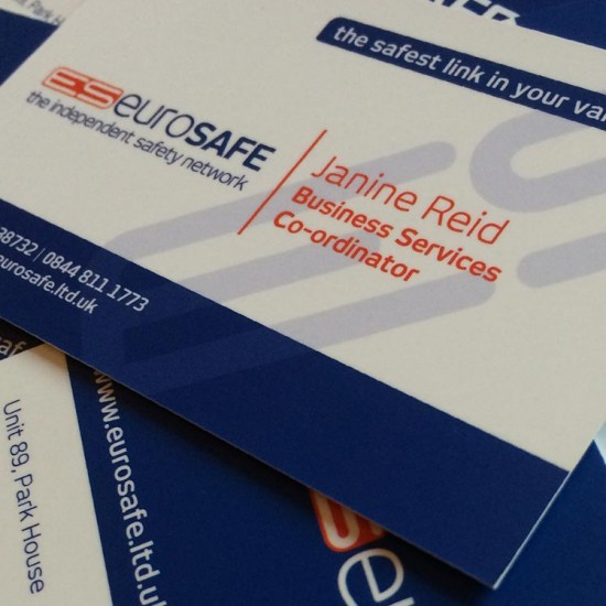 Business Card Design - Eurosafe | Wes Butler Graphic Design