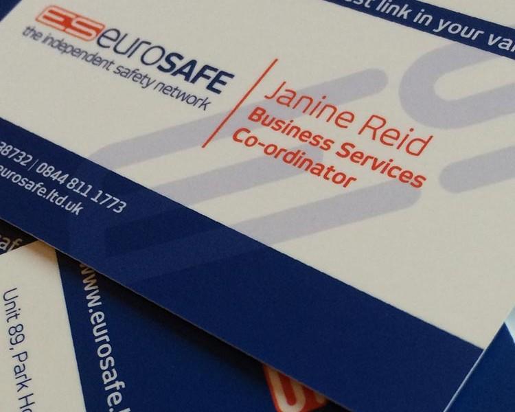 Business Card Design - Eurosafe | Wes Butler Graphic Design