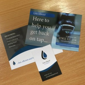 Business Card & Postcard Design - Plumber | Wes Butler Graphic Design