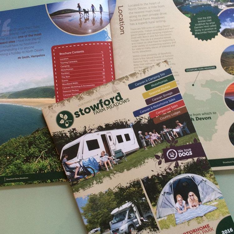 Caravan Park Brochure Design for Stowford   Wes Butler Graphic Design