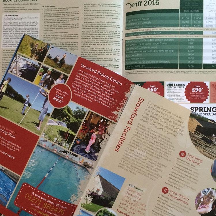 Caravana Holiday Brochure Design - Stowford Farm Meadows   Wes Butler Graphic Design