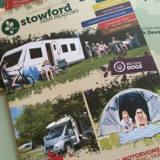 Caravan Park Brochure Design for Stowford