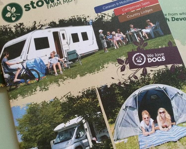Caravan Park Brochure Design for Stowford