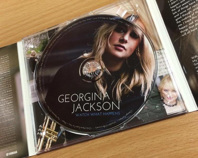 CD Label Design - Georgina Jackson | Wes Butler Graphic Design
