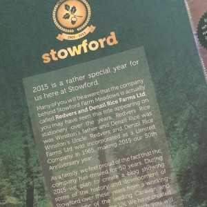Design 50th Anniversary Brochure - Stowford