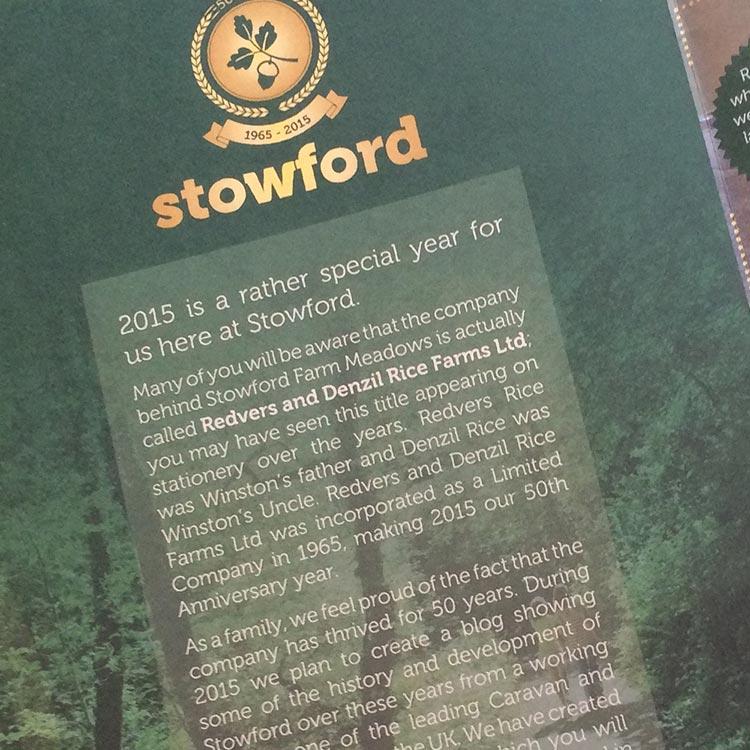 Design 50th Anniversary Brochure - Stowford