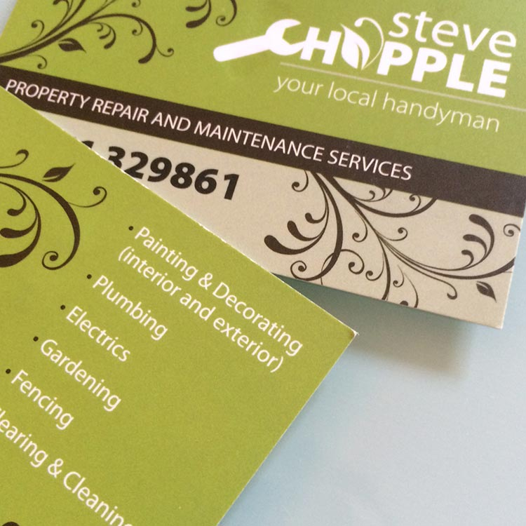 Handyman Business Card Design | Wes Butler Graphic Design Corby