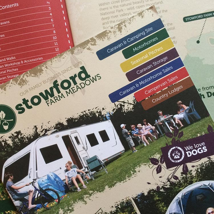 Holiday Brochure Design - Stowford Farm Meadows | Wes Butler Graphic Design