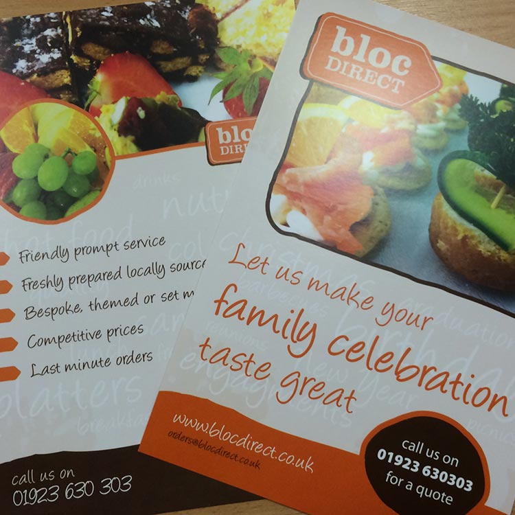 Leaflet Design for Catering Business | Wes Butler Graphic Design