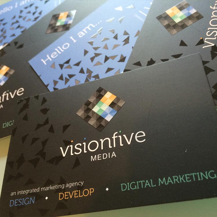 Marketing Agency Business Card Design | Wes Butler Graphic Design Corby