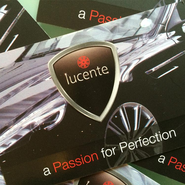 Prestige Car Valeting Business Card Design | Wes Butler Graphic Design Corby