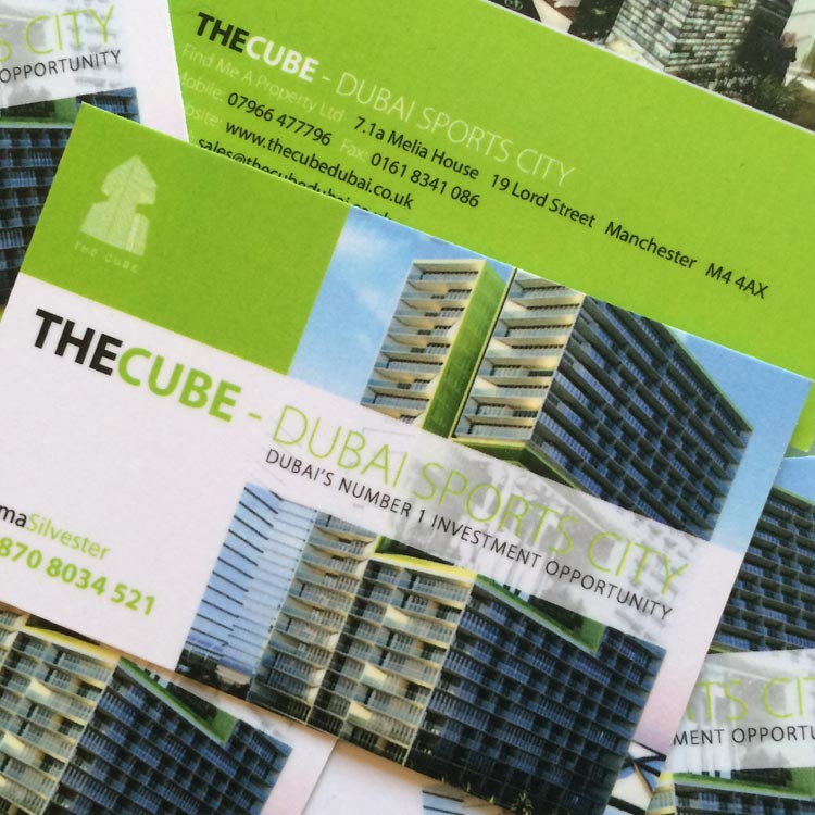 Property Sales Business Card Design | Wes Butler Graphic Design Corby