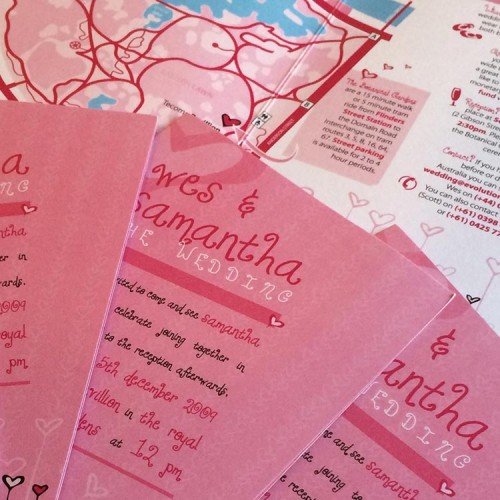 Wedding Invitation Design - Wes and Samantha